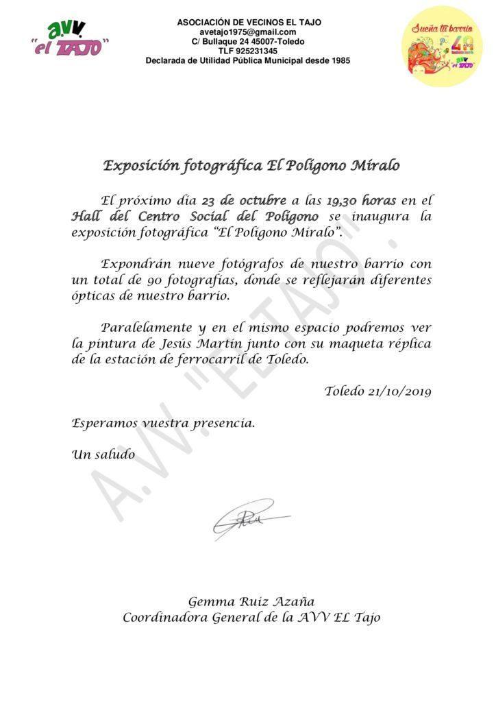 thumbnail of Invitación Exposición Fotografica Polígono Míralo 2019